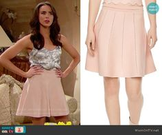 Ivy's floral camisole and pink skirt on The Bold and the Beautiful.  Outfit Details: https://wornontv.net/74147/ #TheBoldandtheBeautiful