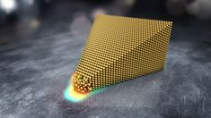 Melting gold normally requires temperatures upwards of C F), but physics is never quite that simple. A team of researchers has now found a way to melt gold at room temperature using an electric field and an electron microscope. Science Images, Science News, Electric Field, Electron Microscope, Geology, Science And Technology, Atoms, Metal, Scientists