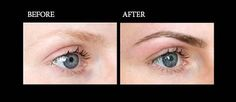 Brow Tinting. Before and after.