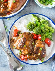 This Slow Cooker Orange Ginger Chicken is sweet and spicy with lovely Asian flavors. Slowly cooked chicken thighs are juicy and succulent. Easy Orange Chicken, Ginger Chicken, Slow Cooker Recipes, Crockpot Recipes, Summertime Salads, Easy Summer Dinners, Keto, Paleo, Slow Cooker Chicken