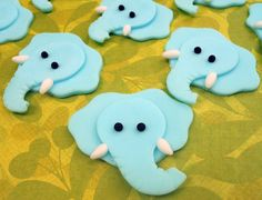 12 ELEPHANT Edible Cupcake Toppers
