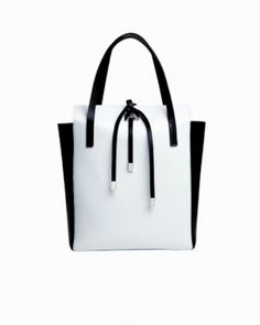 Shopping bag black and white Michael Kors