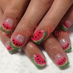 BeautyIsPayne Watermelon Nails
