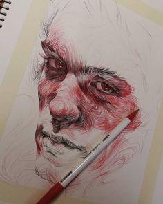 how to draw emojis Kunst Inspo, Art Inspo, Portrait Art, Portraits, Art Sketches, Art Drawings, A Level Art Sketchbook, Ballpoint Pen Art, Sketch Painting
