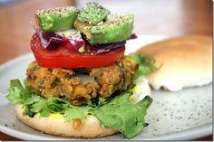 Chickpea Burger #Recipe @Vegetarian