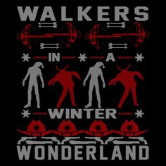 CLEARANCE - Walking Dead Inspired Walkers In A Winter Wonderland Ugly Christmas Sweater - T-shirt or Sweatshirt - SHIPS FREE!