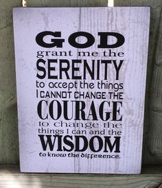 God Grant Me Serenity Prayer Wood Sign, Canvas Wall Hanging, Canvas Banner Inspirational by HeartlandSigns on Etsy