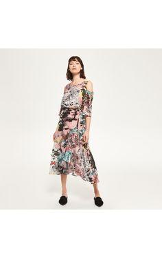 Платье с вырезами на плечах, Платья, многоцветн, RESERVED