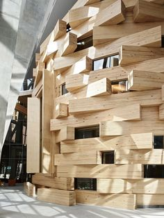 Stunning interior designed by Frank Gehry for The Dr Chau Chak Wing Building at UTS, Sydney (image via The Design Files)