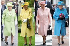 エリゼベス女王のカラフルな装いは、見ているだけでハッピーな気持ちに。