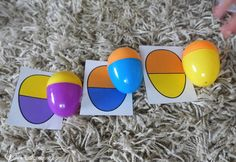 plastic eggs make a great learning tool all year around not just in easter! Try this color sorting activity with your toddler / preschooler.
