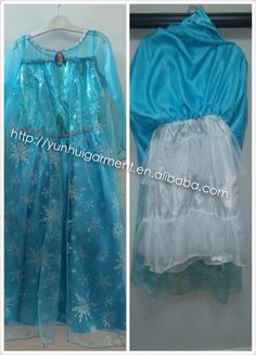8.5$ large stock It is our factory frozen girl dress Elsa nightgowns cosplay costume with linen petticoat under the skirt it is high quantity than others from http://yunhuigarment.en.alibaba.com #frozendress #cape #petticoat #frozenelsa #nightgowns #skirt #girl #dress #cosplay #costume