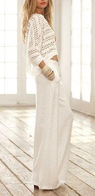 womenfashionstyle:  White  jersey3
