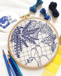 Did you know blue is the favorite color of most people? That means there's a chance most of you like this hoop! Fiber Art, Favorite Color, Coin Purse, Make It Yourself, Embroidery, Fabric, Crafts, Handmade, Hoop