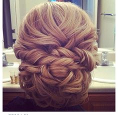Bride hair  #hairstyles #braidedhairstyles #curls #curly #updo #ponytail #style #pmtsogden #paulmitchell #hairstyle #wedding #bridal #bride #bridalhair #weddinghair #beautiful #beauty #inspiraiton #ideas