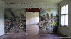 Old School Graffiti: Soviet War Mural  at Olympic Village (#Berlin)
