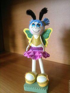 Человечки ручной работы. Куклы из фоамирана Пчелки. Олеся Басирова Украшения с душой. Интернет-магазин Ярмарка Мастеров. Пчела