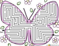 fun mazes for kids butterfly