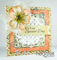 Heartfelt Creations   Peach Lily Special Day