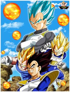 Vegeta Fases Poster by lucario-strike