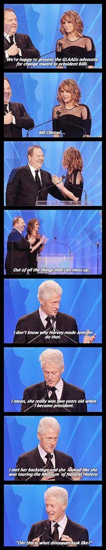 Bill Clinton & Jennifer Lawrence