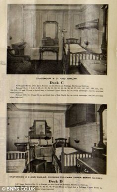 Different class on Titanic: The pictures show staterooms from Deck C and D, far less opulent than higher decks. What would the world be like if RMS Titanic hadn't sunk Real Titanic, Titanic Photos, Titanic History, Titanic Movie, Ancient History, Belfast, Original Titanic, Titanic Artifacts, Modern History