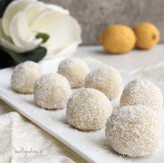 Lemon Coconut Protein Balls @healthyeating_jo | Sweeter Life Club