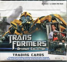 Transformers Optimun Collection Factory Sealed Trading Card Hobby Box