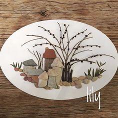 Ege sahillerinin mini taşları/from Egean sea sides/ orda bir köy var serisi #natureart #pebbleart #minitaşlar#handcraft #handcrafted #çakıltaşısanatı #köy #sahiltaşları #artwork #craft #tasarim #instaart #stoneart #natureart #instaart #craft #handmade