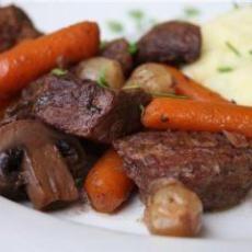 Crock Pot Beef Bourguignon