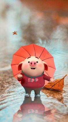 Pig Wallpaper, Disney Wallpaper, This Little Piggy, Little Pigs, Cute Piglets, Wonder Art, 3d Art, Pig Drawing, Pig Illustration