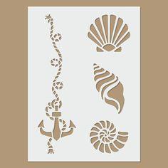 Conchas y plantilla de anclaje