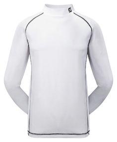 adbab446 Footjoy Performance Baselayer Mock Hvid Bluse, Sweatere, Toppe, Jul