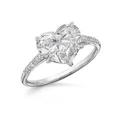 "Engagement Ring :) ""HEART SHAPED DIAMOND RING  2.64ct Heart Shaped Diamond, accented with 0.06cts of Round White Diamonds. Set in platinum.  Cora International.com"""