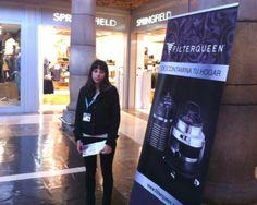 """#FilterQueen Totem en el Centro Comercial ParqueAstur, en Trasona, #Asturias Mayo 2014 - Totem in Shopping mall """"ParqueAstur"""" in Asturias May 2014"""