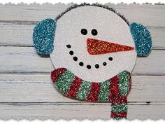 Cool project from http://www.kiwicrate.com/projects/Recycled-CD-Glitter-Snowman/1497: Recycled CD Glitter Snowman