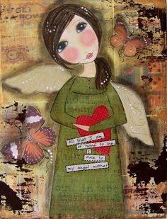 MY Angel Mother 5x7 Art Card Lincoln's Angel