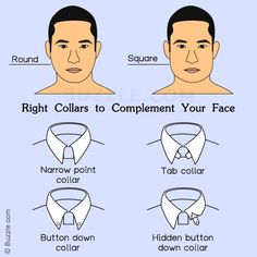 Collars For Round Square Face
