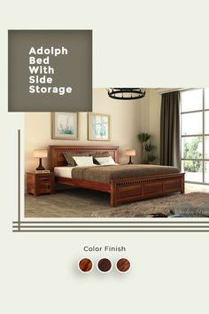 Adolph bed with side storage is a beautifully detailed contemporary furniture design. The headboard and footboard of the bed are detailed with slots which are much noticeable. This bed also assists sufficient storage beneath. The bed is made up of Sheesham wood.  #woodenstreet #Bed #bedroom #decor #interiors #sheeshamwood Wooden Furniture, Furniture Design, Wooden Street, Headboard And Footboard, Bed Styling, Bed Storage, Queen Size, Contemporary Furniture, Beds