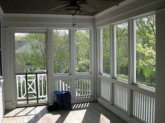 Screened in porch love! Perfect for where our covered deck will be!!