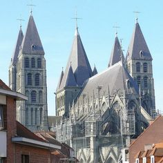 Unesco World Heritage - Tournai's Cathedral.  One of the biggest cathedral in the north of Europe.   Tournai is an ancient city which features an important number of historical buildings. trip-belgium.be