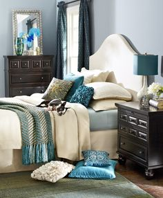 Teal Knit Chevron Throw - Bedding Ideas