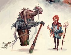 "Storybook characters for class based on the Russian folktale ""vasillisa the Brave."" Vasillisa and the Baba Yaga Baba Yaga, Wicca, Fractured Fairy Tales, Forest And Wildlife, Storybook Characters, Supernatural Beings, Magical Creatures, Deities, Folklore"