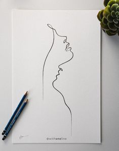 Lips like a compass / minimal one-line portrait / romantic line drawing . - Lips Like Compass / Minimal One Line Portrait / Romantic Line Art / WithOneLine – Lips Like Compa - One Line Tattoo, Line Art Tattoos, Single Line Tattoo, Gun Tattoos, Ankle Tattoos, Arrow Tattoos, Word Tattoos, Tattoo Small, Pencil Art Drawings
