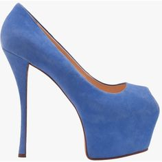 Pre-owned Giuseppe Zanotti Blue Suede Platform Heels (1.205 RON) ❤ liked on Polyvore featuring shoes, pumps, blue, heels, blue pumps, blue suede shoes, heel pump, blue platform pumps and platform pumps