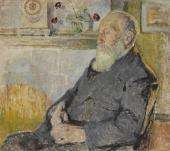 """Mela Muter, """"Portret ojca artystki Fabiana Klingslanda"""", ok.1907 olej na płótnie 90 x 100 cm"""