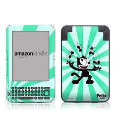 Felix Juggling Design Protective Decal Skin Sticker for Amazon Kindle Keyboard / Keyboard 3G (3rd Gen) E-Book Reader - High Gloss Coating by MyGift. $16.99. This scratch resistant skin sticker used High Gloss Coating which is the standard glossy finish and helps to protect your Kindle Keyboard / Keyboard 3G (3rd Generation - release in July 2010) E-Book Reader while making an impression. Self-adhesive plastic-coated skins cover the front and back surfaces of the Kindle 3rd Gene...