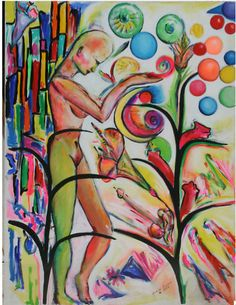 """""""Fertilization"""" by Grace Divine.  One of a series on women.  Check out her remarkable life."""