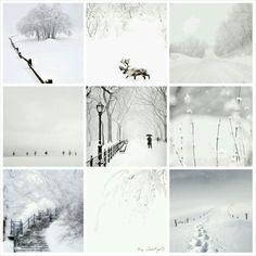 Winter Wonderland. #moodboard #mosaic #collage #byJeetje♡