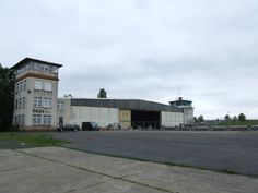 The old hangar and platoon room at Finthen Army Airfield, Germany.